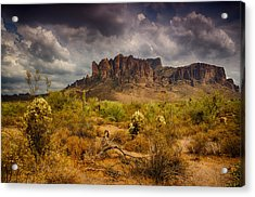 A Day At The Superstitions  Acrylic Print