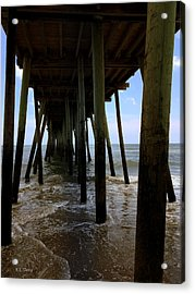 Acrylic Print featuring the pyrography A Day At Virginia Beach by Rebecca Davis