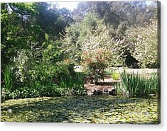 A Day In The Garden Acrylic Print by Marian Jenkins