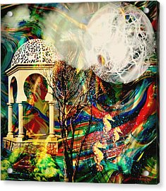Acrylic Print featuring the mixed media A Day In The Park by Ally  White