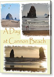 A Day On Cannon Beach Acrylic Print by Sharon Elliott