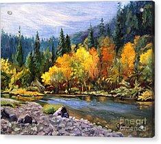 A Day On The River Acrylic Print by Jennifer Beaudet