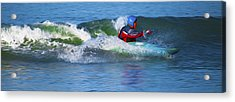 Acrylic Print featuring the digital art A Day Out With The Kayak. by Timothy Hack