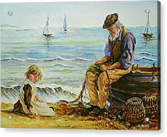 A Day With Grandad Acrylic Print by Andrew Read