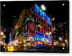 A December Evening At Macy's  Acrylic Print
