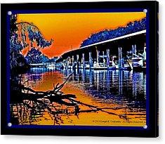 A Delta Sunset  Acrylic Print