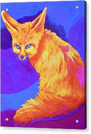 Acrylic Print featuring the painting A Desert Dweller by Margaret Saheed