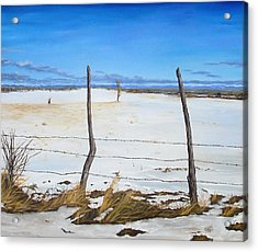 Acrylic Print featuring the painting A Desert Winter by Jessica Tookey