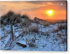 A Destin Sunset Acrylic Print by JC Findley