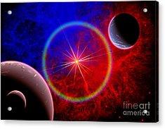 A Distant Alien Star System Acrylic Print by Mark Stevenson