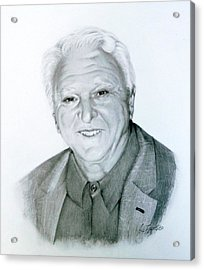 Acrylic Print featuring the drawing A Distinguished Gentleman by Lori Ippolito