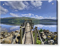 A Dock Out To Loch Tay Acrylic Print