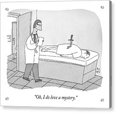 A Doctor Enters An Examination Room Where Acrylic Print