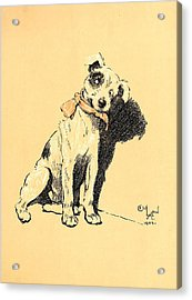 A Dog Day 1902-b Acrylic Print by D and I  Printing