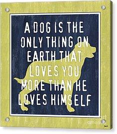 A Dog... Acrylic Print by Debbie DeWitt