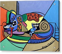 A Dog Named Picasso Acrylic Print by Anthony Falbo