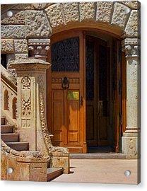A Door In Monaco Acrylic Print by Christine Burdine