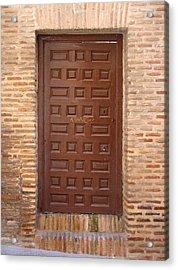 A Door In Toledo Acrylic Print by Roberto Alamino