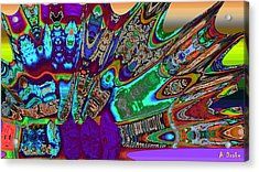 A Dragon Fan On Venus Acrylic Print by Alec Drake