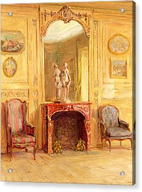 A Drawing Room Acrylic Print by Walter Gay