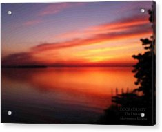 A Dreamy Sunset On The Midwestern Riviera Acrylic Print