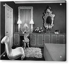 A Dressing Room Acrylic Print by Emelie Danielson