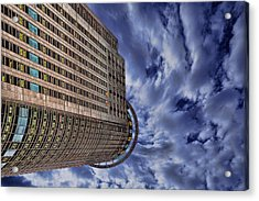 Acrylic Print featuring the photograph A Drifting Skyscraper by Ron Shoshani