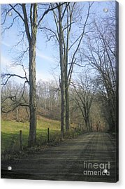A Drive In The Country Acrylic Print by R A W M