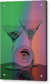 A Dry Martini Acrylic Print by Mike Martin