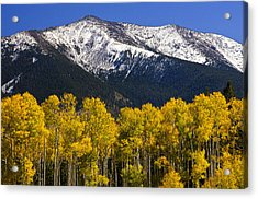 A Dusting Of Snow On The Peaks Acrylic Print