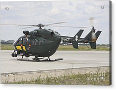 A Eurocopter Ec145 Helicopter Acrylic Print by Timm Ziegenthaler