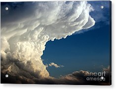 Acrylic Print featuring the photograph A Face In The Clouds by Barbara Chichester