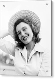 A Face In The Crowd, Patricia Neal, 1957 Acrylic Print