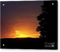 A Fading Sunset Acrylic Print by Steven Valkenberg