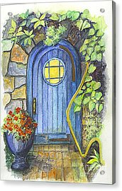 Acrylic Print featuring the painting A Fairys Door by Carol Wisniewski