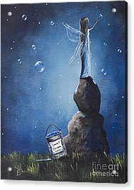 A Fairy's Nighttime Gift By Shawna Erback Acrylic Print by Shawna Erback