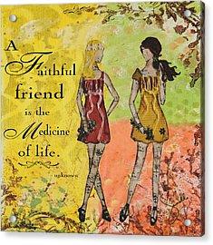 A Faithful Friend Inspirational Christian Artwork  Acrylic Print