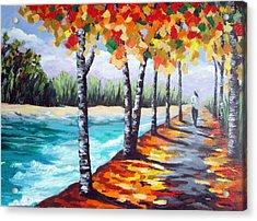 A Fall Stroll Acrylic Print