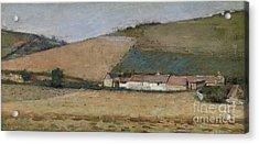 A Farm Among Hills Acrylic Print