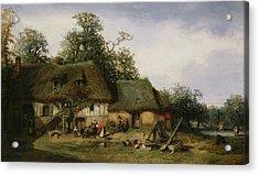 A Farm In Normandy Oil On Canvas Acrylic Print