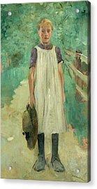 A Farmgirl Acrylic Print by Thomas Ludwig Herbst