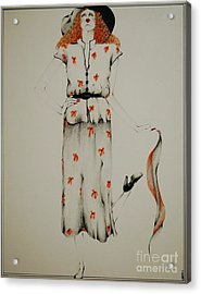 A Fashion Statement Acrylic Print by Joy Bradley