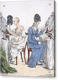 A Fashionable Lady, Pub. 1807 88a Acrylic Print by Richard Dighton
