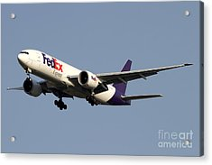 A Federal Express Boeing 777f Cargo Acrylic Print