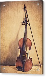 A Fiddle Acrylic Print by Emily Kay
