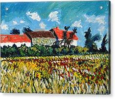 A Field In France Acrylic Print