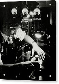 A Film Projectionist Acrylic Print