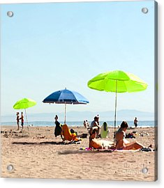 A Fine Day At The Beach Acrylic Print by Artist and Photographer Laura Wrede