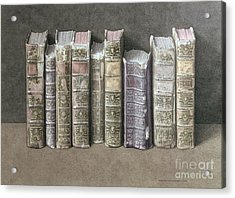 A Fine Library Acrylic Print by Jonathan Wolstenholme