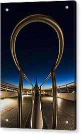 A Fisheye Look At The Ultra-modern Milwaukee Art Museum At Dawn Acrylic Print